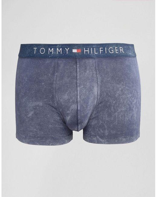 Tommy Hilfiger | Синие Боксеры-Брифы В Джинсовом Стиле Icon Синий