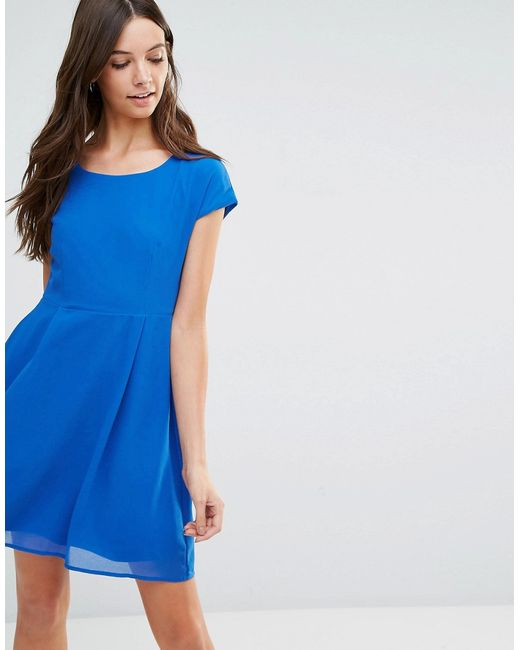 Jasmine | Женское Синее Короткое Приталенное Платье