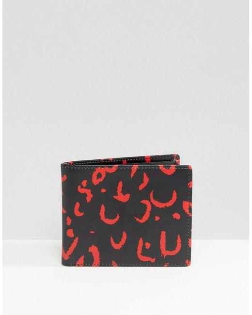 Smith And Canova | Чёрный Бумажник С Красный Животным Принтом Черный