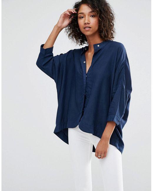 Waven | Синяя Oversize-Рубашка Mia