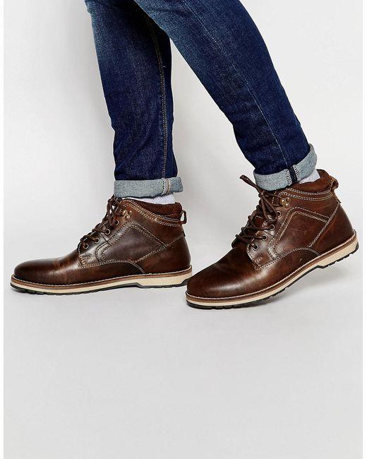 Red Tape | Мужские Коричневые Ботинки На Шнуровке Коричневый