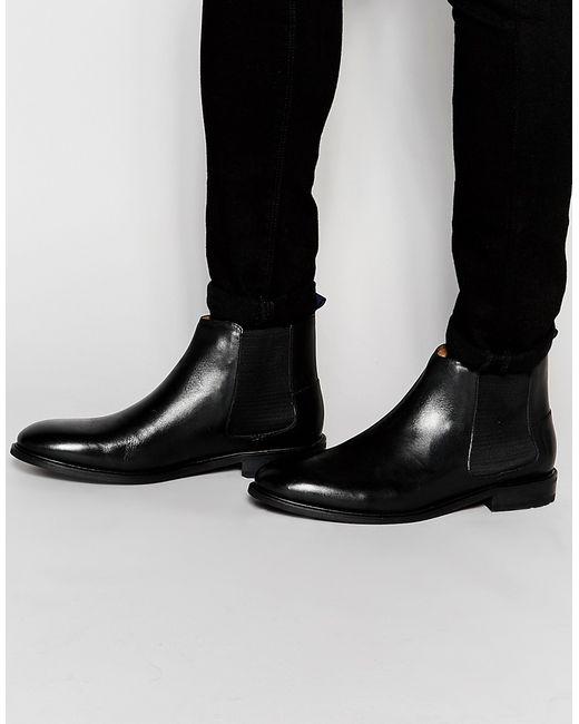 Ben Sherman   Чёрные Черные Ботинки Челси Kris