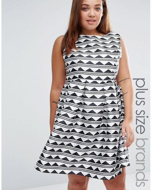 Praslin | Женское Короткое Приталенное Платье С Принтом Plus