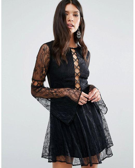 THE JETSET DIARIES | Женское Платье Мини Majestic Черный