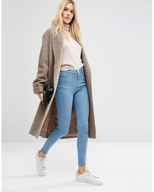 Asos   Oversized Knitted Coat In Wool Blend With