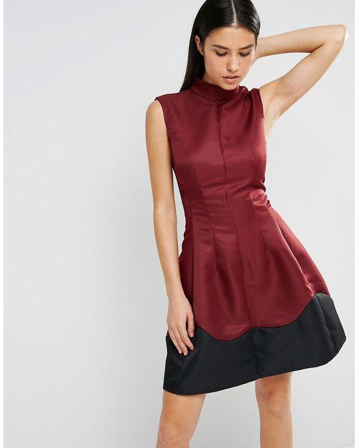 AX Paris | Женское Короткое Приталенное Платье С Отделкой По Подолу