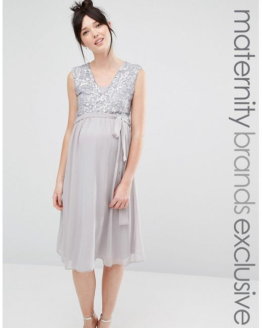 Queen Bee | Sleeveless Sequin Lace Bodice Midi Dress With