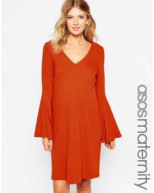 ASOS Maternity | Женское Цельнокройное Платье Из Ткани Понте Для Беременных