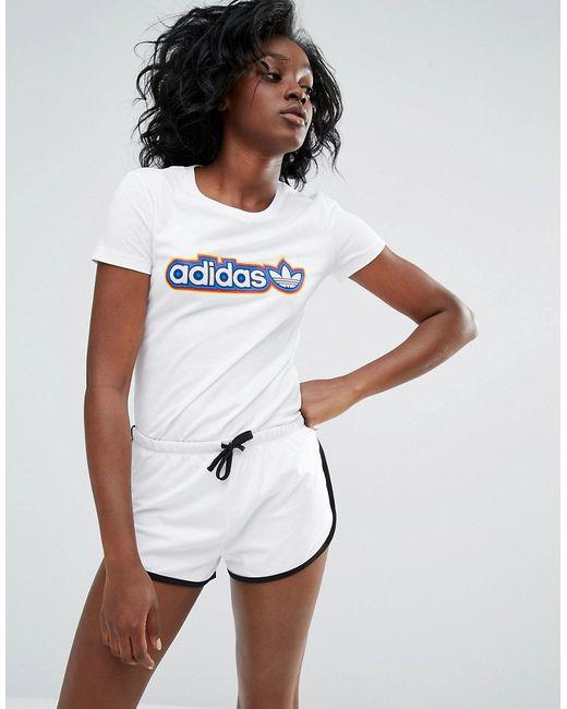 Adidas | Женская Футболка С Логотипом Белый