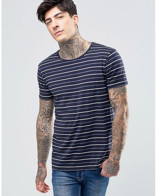 SCOTCH & SODA | T-Shirt Navy Stripe In Stretch Slim Fit
