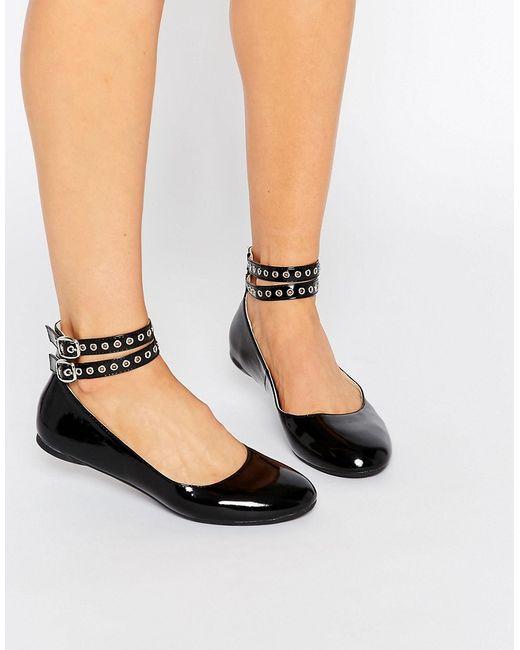 Daisy Street | Женские Черные Туфли На Плоской Подошве