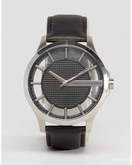 ARMANI EXCHANGE   Мужские Часы С Черным Кожаным Ремешком Ax2186