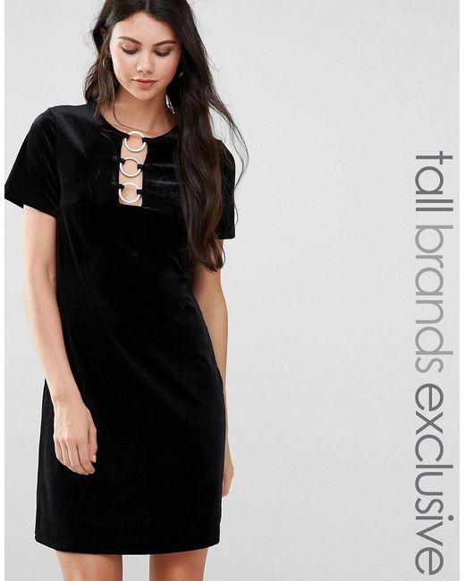 Glamorous Tall | Женское Бархатное Цельнокройное Платье