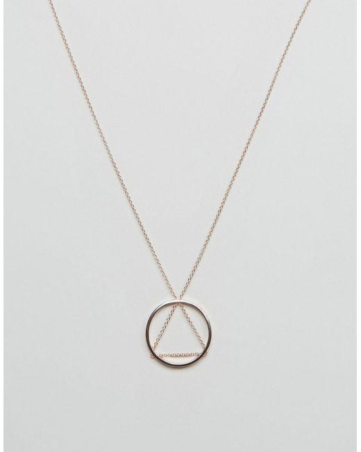 Cheap Monday | Женское Золотое Ожерелье С Треугольной Подвеской И Подвеской-Кольцом