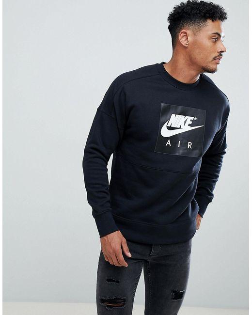 0150b94f Мужские Чёрные Свитшот Air 886050-010 Nike 6916315