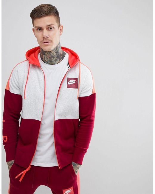 29f92656 Мужские Красные Худи Красного Цвета На Молнии Air 886044-051 Nike ...