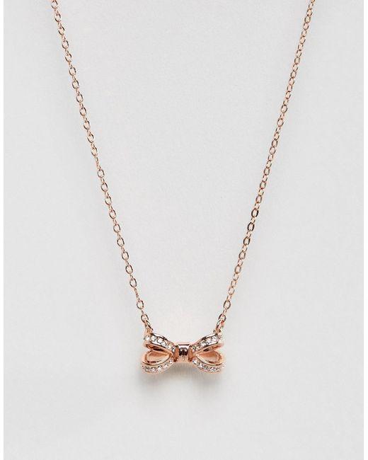 Ted Baker | Женское Золотое Ожерелье С Подвеской Olessi