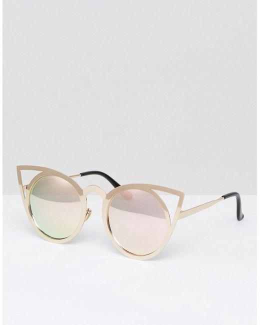 7X | Золотые Солнцезащитные Очки Кошачий Глаз