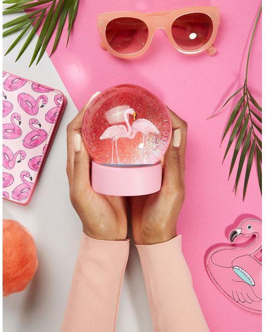 Talking Tables | Многоцветный Снежный Шар С Фламинго