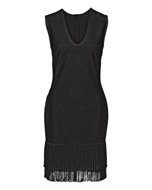 bonprix | Женское Гранатовое Платье С Бахромой