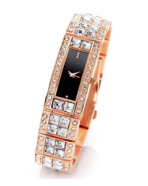 bonprix   Женские Серебристые Часы На Сверкающем Металлическом Браслете Со Стразами