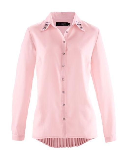 bonprix | Женская Цвет Белой Шерсть Шифоновая Блузка Премиум