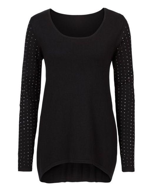 bonprix | Женский Цвет Белой Шерстящий Пуловер С Удлиненной Задней Частью И Длинным