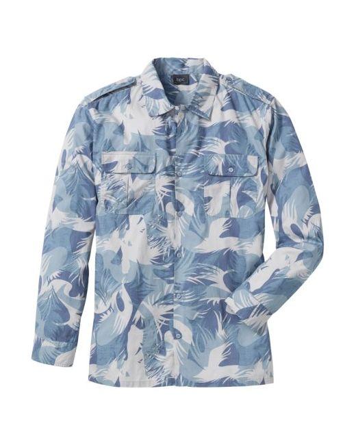 bonprix | Мужская Хаки Рубашка Regular Fit С Длинным Рукавом
