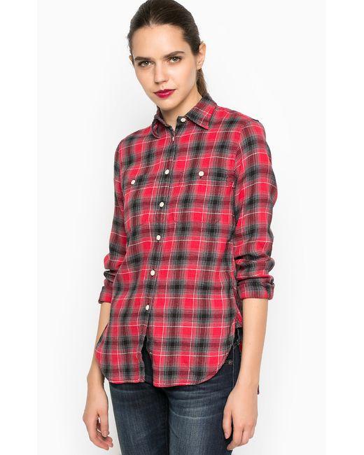 DS Ralph Lauren   Женская Красная Рубашка