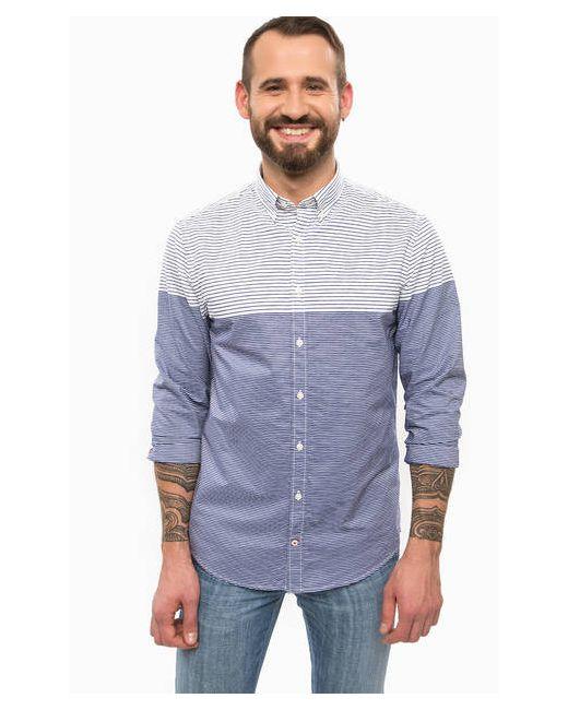 Tommy Hilfiger | Мужская Полоска Синяя Рубашка Из Хлопка В Полоску