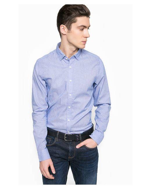 Tommy Hilfiger | Мужская Синяя Синяя Хлопковая Рубашка
