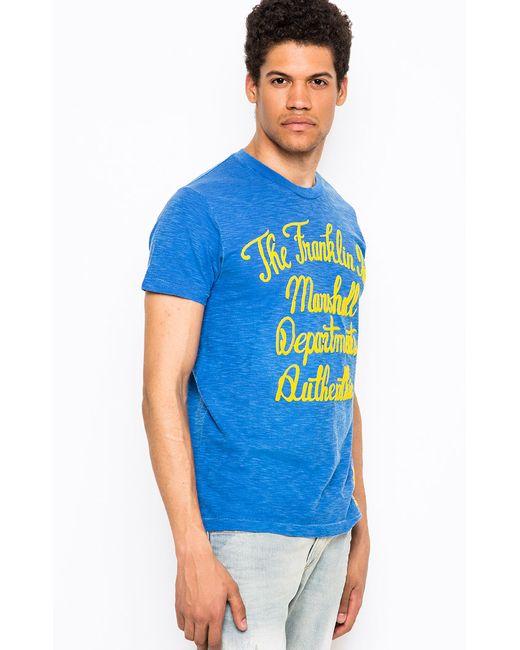 Franklin & Marshall | Мужская Синяя Футболка