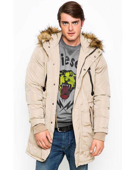 Diesel   Мужская Бежевая Куртка