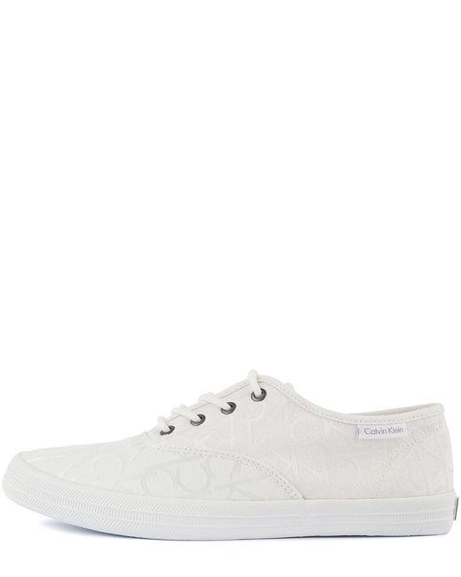 Calvin Klein Jeans   Мужские Белые Кеды