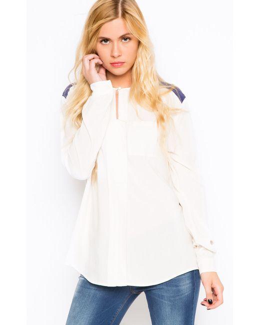 Liu •Jo Jeans   Женская Белая Блуза Liu Jo Jeans