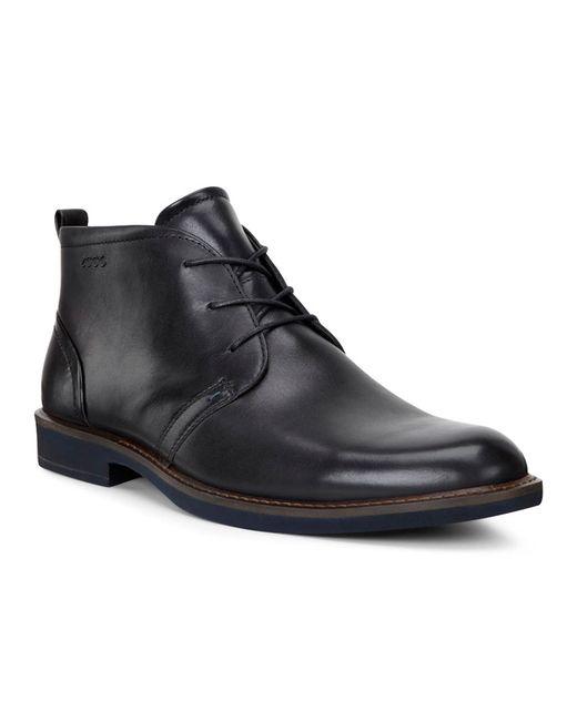 Ecco | Мужские Чёрные Ботинки