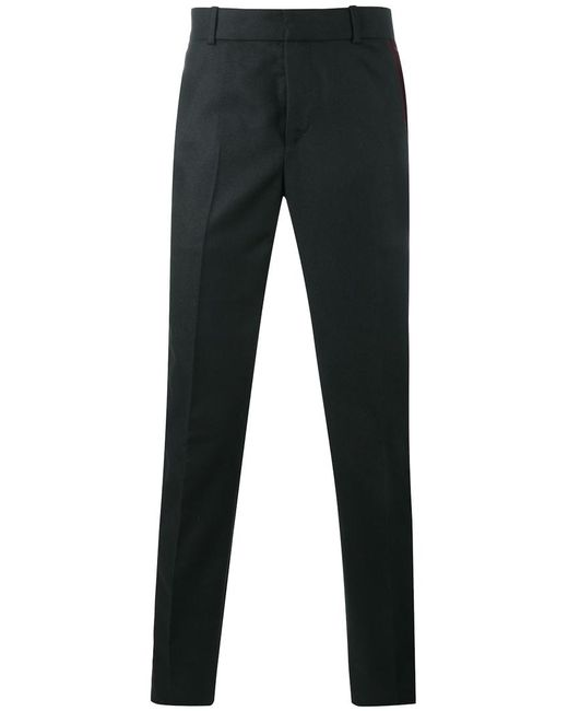 Alexander McQueen | Чёрный Side Stripe Trousers