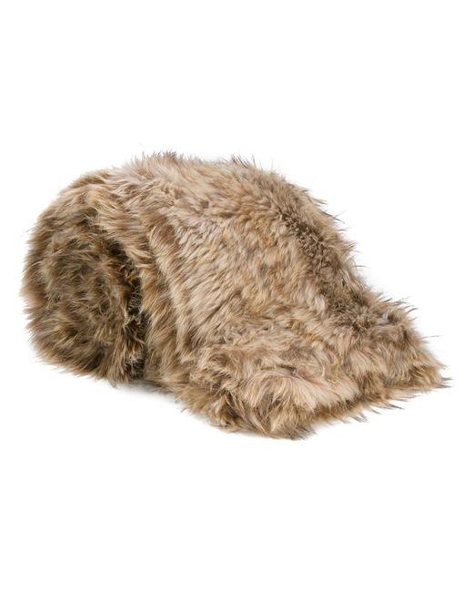 Liska | Nude/Neutrals Raccoon Fur Blanket