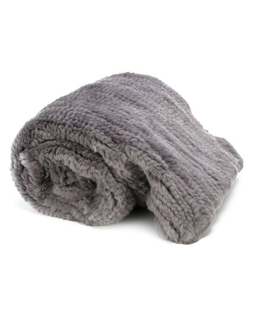 Liska | Серый Rabbit Fur Blanket