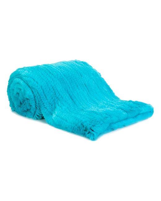 Liska | Синий Rabbit Fur Blanket