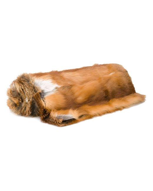 Liska | Коричневый Fox Fur Blanket