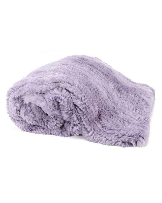 Liska | Розовый Rabbit Fur Blanket