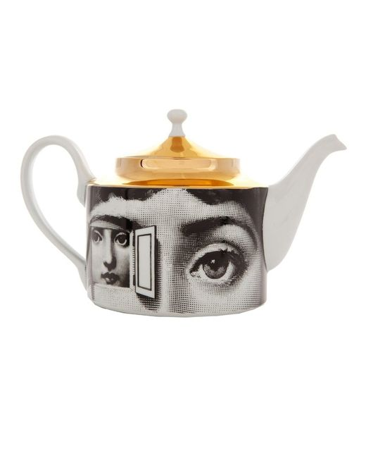 FORNASETTI | Белый Printed Porcelain Tea Pot