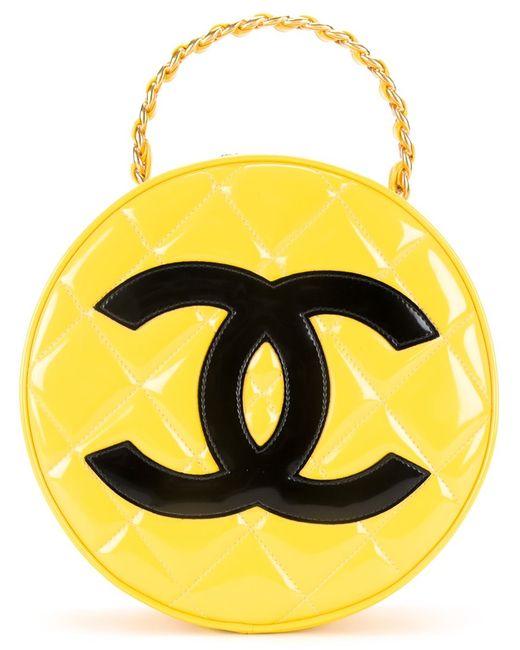 Chanel Vintage | Женское Желтый Quilted Round Vanity Case