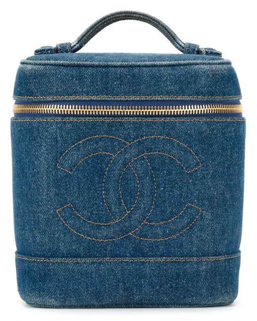 Chanel Vintage   Женское Синий Logo Embossed Box Bag