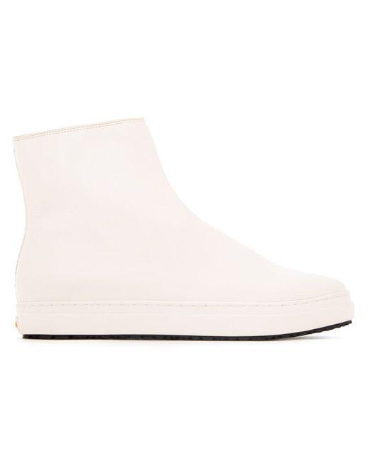 KAZUYUKI KUMAGAI | Мужское Белый Side Zip Ankle Boots 26 Leather