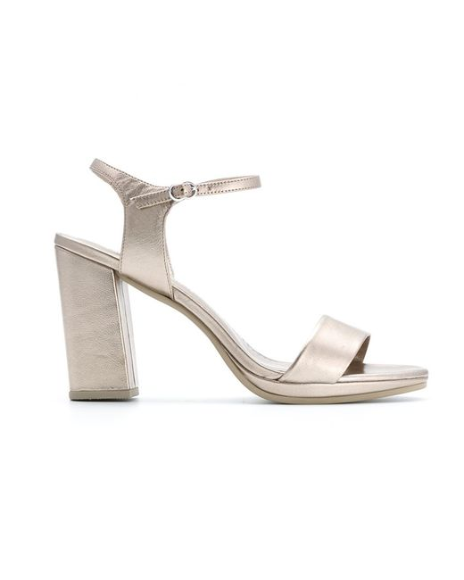 Sarah Chofakian | Женское Серебристый Chunky Heel Sandals 36 Goat Skin