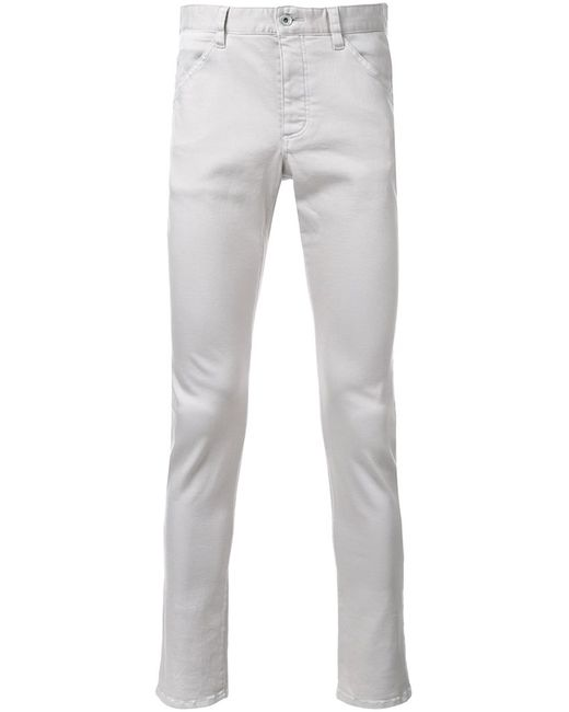 KAZUYUKI KUMAGAI | Мужское Серый Skinny Trousers 2 Cotton/Polyester/Polyurethane