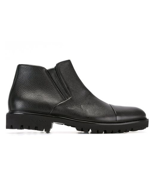 Baldinini | Мужское Чёрный Side Zip Boots 44 Leather/Rubber