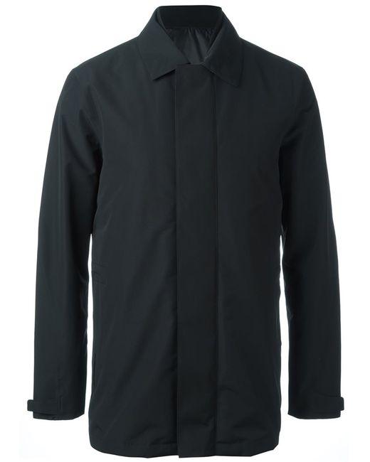 Z Zegna | Мужское Чёрный Concealed Fastening Jacket Small Polyamide/Polyester